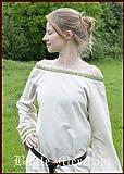 Battle-Merchant Mittelalterkleid Nessa aus Baumwolle/Leinen in verschiedenen Farben - Kleid für Wikinger, LARP, Mittelalter Farbe natur/olive