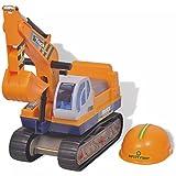 Escavatore Giocattolo per Bambini, Veicolo Escavatore Cavalcabile Giochi Bambini in Spiaggia e Casa, Escavatore Senza Pedali Pala dell'Escavatore Funzione Manuale, con Casco di Sicurezza, 66x24x56cm