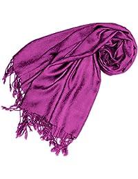 LORENZO CANA Damenschal Schal Paisley Damast Jacquard Tuch Modefarbe Beere Pink Violett 65 x 175 cm Damentuch 9308066