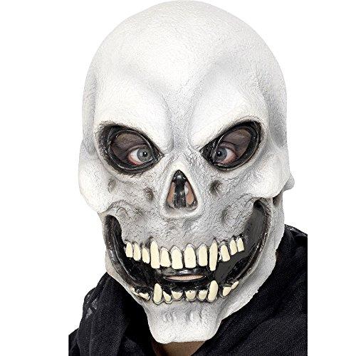 Smiffy's 22148 Totenkopfmaske zum Überziehen, (Maske Kostüm Todes Des Die Roten)