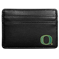 NCAA Oregon Ducks Leather Weekend Wallet, Black