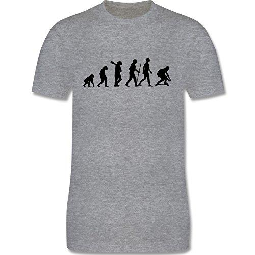 Evolution - Skateboard Evolution - Herren Premium T-Shirt Grau Meliert