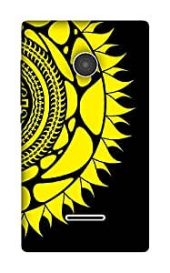 The Racoon Grip Sunflower hard plastic printed back case / cover for Microsoft Lumia 532
