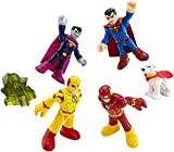 Imaginext Heroes and Villains Figures with Superman, Bizarro, The Flash and Professor Zoom, Gift for Kids from 3 Years Old