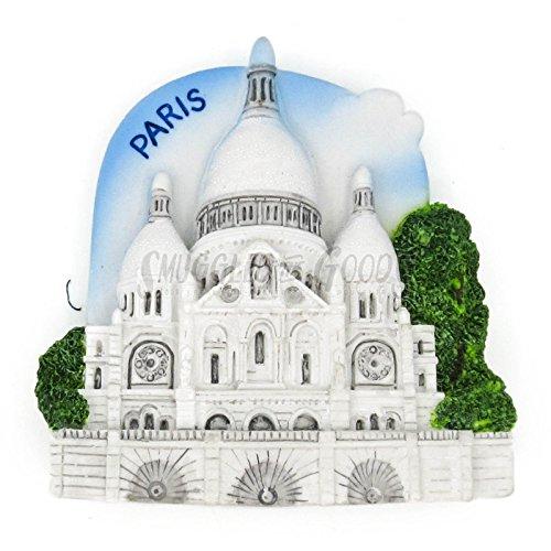 Rendez-vous en Francia Sacre Coeur Basilica París Francia Imán 3D de yeso...