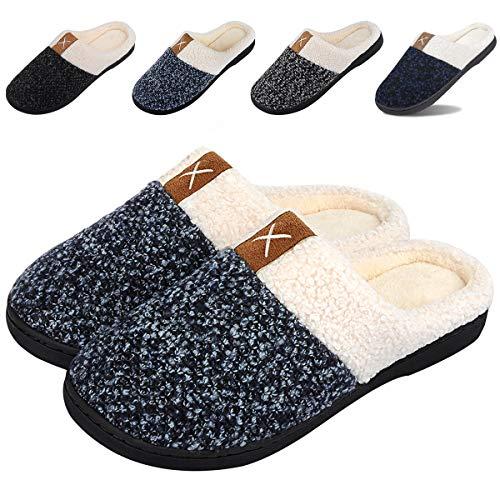 IceUnicorn Winter House Slippers Womens Mens Memory Foam Slippers Comfort Plush Fleece Lined Slipper Anti-Slip for Indoor Outdoor