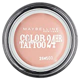 Maybelline Eyestudio Color Tattoo 24H Creme-Gel-Lidschatten Nr. 91 Creme de Rose, leuchtende Farbe dank innovativer Tinten-Technologie, bis zu 24h Halt durch die Creme-Gel-Formel, 4 g