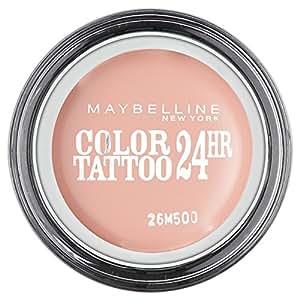 Maybelline Color Tattoo 91 Creme De Rose - eye shadows (Beige, Creme De Rose, Satin, CYCLOPENTASILOXANE, ISODODECANE, POLYPROPYLSILSESQUIOXANE, CERESIN, CYCLOHEXASILOXANE, CAPRYLYL METH)