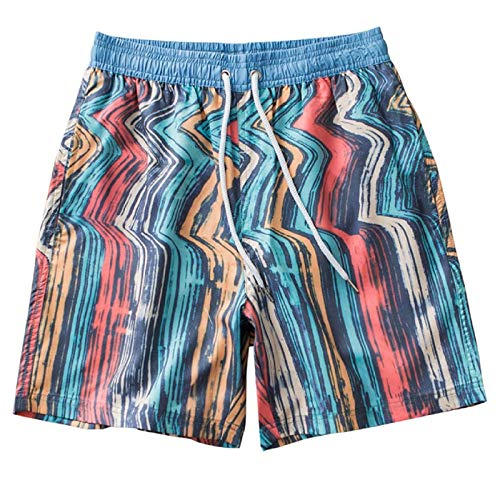 Barlingrock Men's Swimwear Laufen Surfen Sport Strand Shorts Trunks Gestreift - Gestreift Trunk