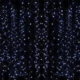 ERGEOB 400 LED 2meter*2meter Vorhang-Licht LED Gardine Licht weiß