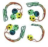 Schnäppchenladen24  Fussball Halskette mit LED 10 STÜCK Anhänger Fußbälle Licht Effekt