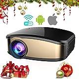 Wireless Wifi Video Projector Full HD 1080P, iBacakys Portable LED Mini Home Cinema