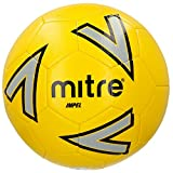 mitre Impel Ballon de Football Mixte Adulte, Jaune/Argent/Noir, Taille 4