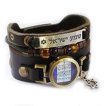 Brazalete con símbolos religiosos judíos e inscripciones Hebreas - Diez Mandamientos