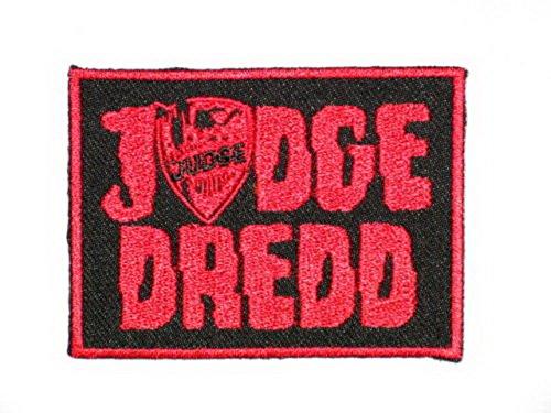 Judge Dredd 2000 AD Polizei Gesetz Phantasie Kleid Iron On Sew On Aufnäher Bügelbild Embroidered Patch 3.2