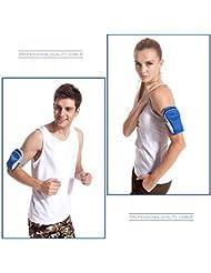 """jassby (TM) M size5.0""""deportes al aire libre mulitfuction correr brazo bolsa deporte danza gimnasio multi bolsillo Funda para teléfono Paquete de clave monedero yc201-sz"""