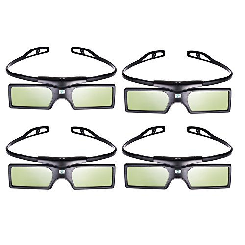 Emgreat 3D Active Shutter Glasses Bluetooth Eyewear Glasses for Samsung/Panasonic/LG Bluetooth 3D TVs (4 PCS), [Importado de UK]