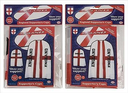 ADULT ENGLAND ST George Cross World Cup Football UNTERSTÜTZT KREUZFAHRER CAPE ()
