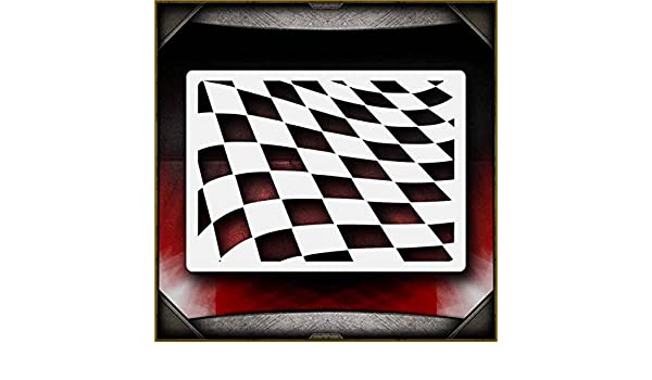 Waving Checkers AirSick Airbrush Stencil Template by AirSick ...