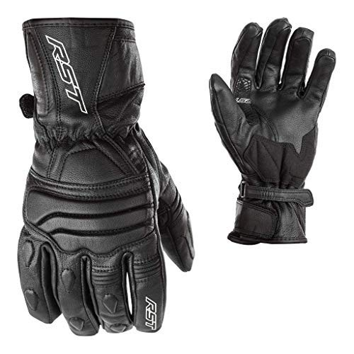 RST 2106 Jet City Leder Wasserfest Motorrad Handschuhe schwarz - Schwarz, L -