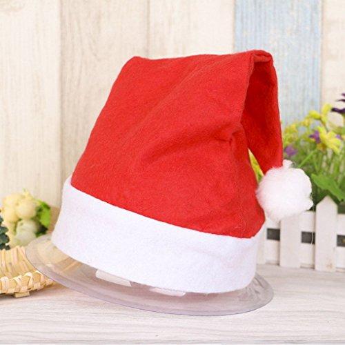 Timlatte Weihnachten Offizielle Plüsch Weihnachtsmann Hat & Comfort Liner Weihnachten Halloween-Kostüm Comfort Liner