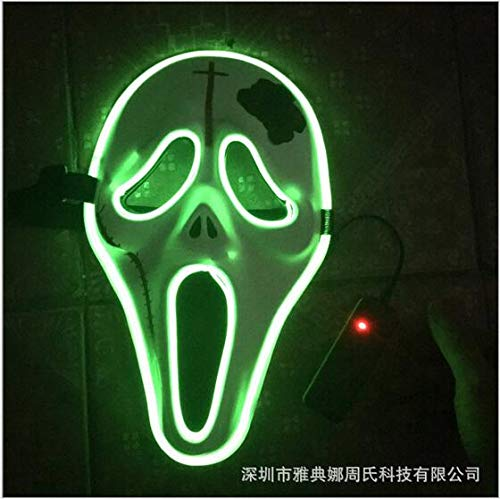 HITSAN INCORPORATION Cool Halloween Style Skull Mask EL Wire Masks Glowing neon Festival LED Glowing Party DJ Dance Carnival Ghost Masks Toys