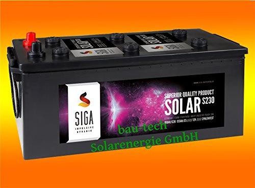 230Ah AGM Solarbatterie AKKU für Photovoltaik, Insel oder Solar Anlagen
