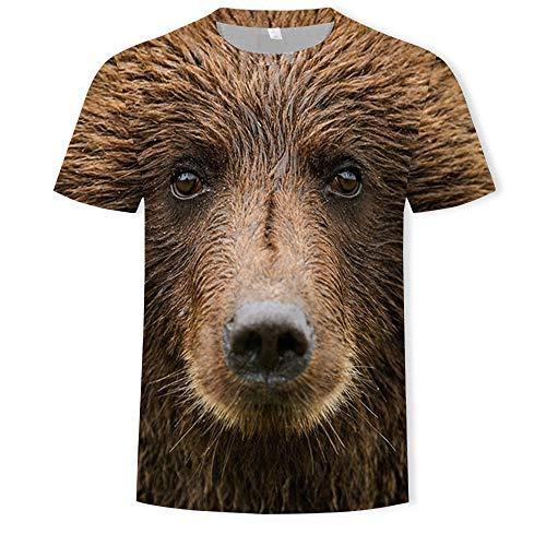 Epig Herrenmode 3D Persönlichkeit Druck Kurzarm T-Shirt Freizeit Oansatz Sommer Neuheit Top Bluse -