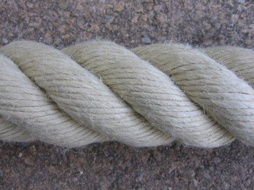 Handlaufseil Absperrseil Handlauf Seil 40mm Fb. natur