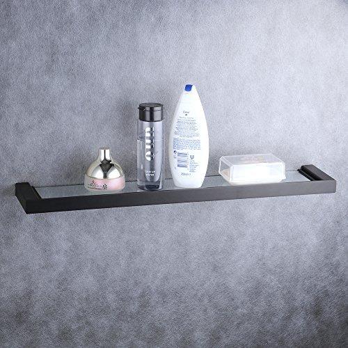 Badezimmer-Glasregal an der Wand befestigt, Badezimmer-Zusatzhalter im Schwarzen, Beelee, BA8505B (Öl Bronze Eingerieben Hardware Badewanne)