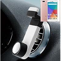 Smartphone universal Holder Holder / Car montaje / parabrisas para el Xiaomi Mi A1. blanco. Titular de teléfono de la rejilla de ventilación se puede ...