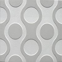 Poliestireno de pared decorativos paneles de techo azulejos Breez G, multicolor, 500 x 500
