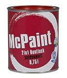 McPaint 2in1 Buntlack Grundierung und Lack in einem für Innen und Außen. PU verstärkt - speziell für Möbel und Kinderspielzeug seidenmatt Farbton: RAL 3000 Feurrot 0,75 Liter - Bastellack- Andere Farben verfügbar