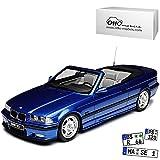 BMW 3er E36 M3 Cabrio Blau 1990-2000 Nr 279 1/18 Otto Modell Auto mit individiuellem Wunschkennzeichen