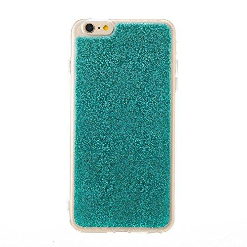 DaYiYang Silikon TPU weiches flexibles Gel-Abdeckungs-Fall Glänzender Glitter 360 ° volle Abdeckung rückseitige Abdeckung [Shockproof] für iPhone 6 Plus u. 6s Plus ( Color : Purple ) Green