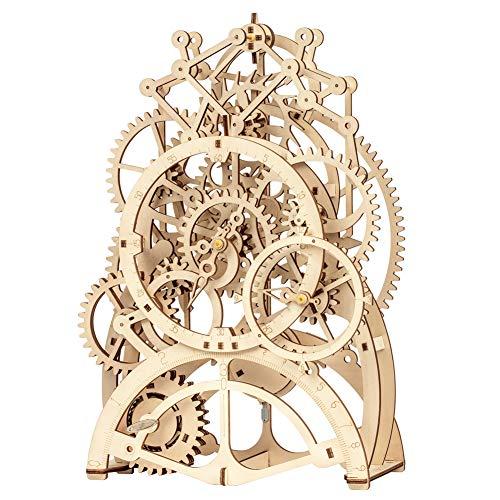 Pendeluhr durch Uhrwerk 3D Holz Modellbau Kits Spielzeug Hobbys Geschenk für Kinder Erwachsene ()