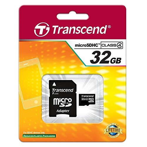 Transcend Samsung GALAXY GRAND PRIME Cell Phone Memory Card 32GB microSDHC Memory Card with SD Adapter
