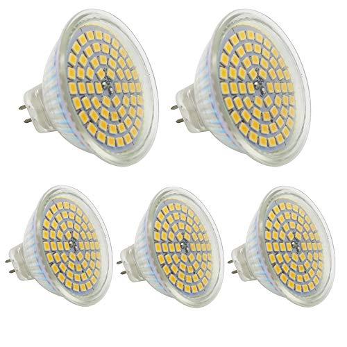 3 Stück Mr16 Led (5 Stück GU5.3 MR16 Led Lampe 12V Warmweiß 3W,25W GU5,3 Halogenlampe Äquivalent,GU 5.3 Sockel Glühlampen,Hohe Kompatibilität, 3000K,50mm Durchmesser,Aluminium,320LM)