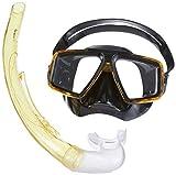 Mares, Starfish '12 Diving Kit, Set di Machera e Snorkel per adulti, colore trasparente/giallo/nero