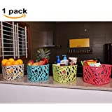 Absales 1 Piece Kitchen Utensils Storage Basket Vegetable Rack & Fruits Organiser Office Bin Table Organizer