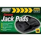 Maypole MP4976 Caravan Jack Pad (Pack of 4) - Black