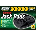 Maypole MP4976 Caravan Jack Pad (Pack of 4) - Black
