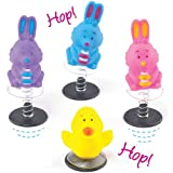 Chick & Bunny Easter Jump-Up Toys for Kids Perfect Party Bag Fillers (Pack of 4)