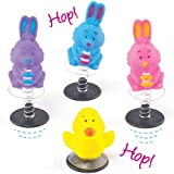 Baker Ross Figuras Saltarinas de Pascua Pequeños Juguetes Perfectos como Relleno de Piñata Premios y Regalos de Fiestas Infantiles (Pack de 4)