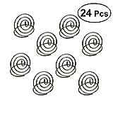 Bestonzon 24pz in acciaio INOX creativo carta di forma rotonda del cerchio stereo note Pad segnaposti menu clip (argento)