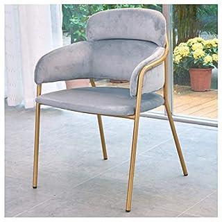 Shirley's Home Barhocker Esszimmerstuhl Lounge Chair mit Armlehnenstuhl für Western Restaurant Cafe Bar (Farbe : Gray)