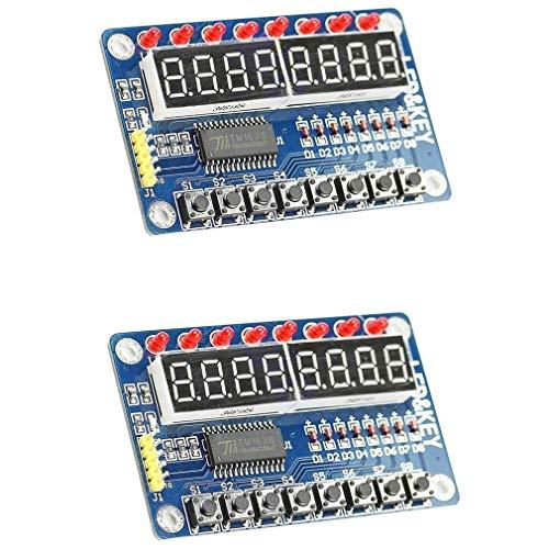 HiLetgo® TM1638-Chip, 8-Bit, LED-Digitalröhre, 8-Tasten-Display-Modul für AVR Arduino ARM 8 Taste Display