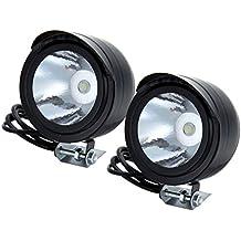 ZN - Faros LED delanteros para motos (2 unidades, 12-80 V, 3 W, metálicos)
