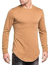 BLZ jeans - Sweat-shirt homme camel oversize