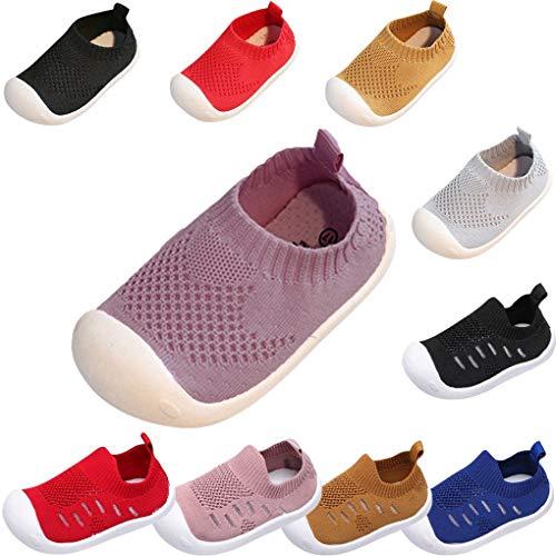 Sandalen für Kinder/Dorical Sommer Unisex Baby Jungen Mädchen Lauflernschuhe Fliegendes Weben Schuhe Mesh Atmungsaktiv Sportschuhe Freizeitschuhe Krabbelschuhe mit Weiche Sohle(Rosa,3-3.5 Jahre)